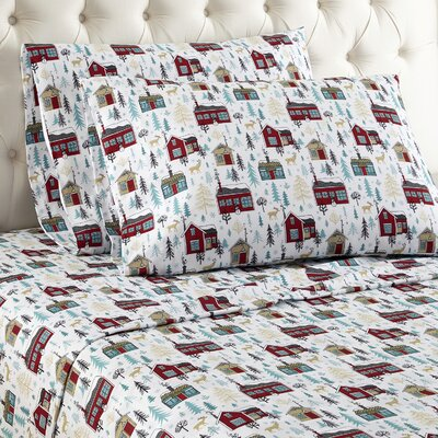 Buchholtz Cabins Cotton Sheet Set Size: King