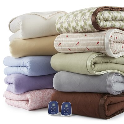 Mirren Enchantment Rose Electric Heated Blanket Size: Queen