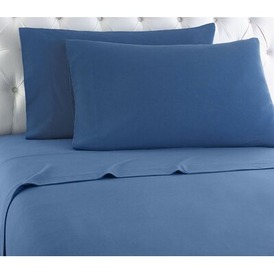 Noi 100% Cotton Sheet Set Color: Smokey Mountain Blue