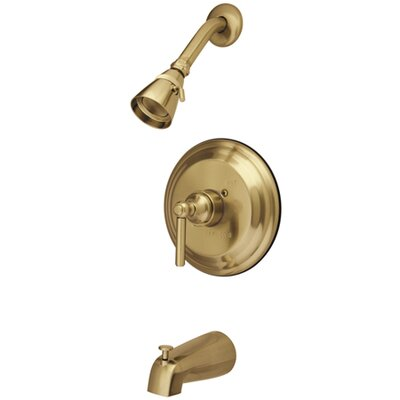 Volume Control Tub and Shower Faucet with Naples Lever Handle Finish: Polished Brass