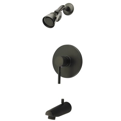 Volume Control Tub and Shower Faucet Trim  with Metal Lever Handles Finish: Oil Rubbed Bronze