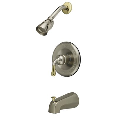 Volume Control Faucet Shower Faucet Trim Only Finish: Satin Nickel / Polished Brass