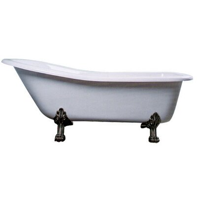 Vintage 69 x 28 Acrylic Soaking Bathtub Leg Finish: Satin Nickel