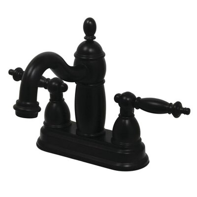Charlevoix Centerset Bathroom Faucet with Double Lever Handles Finish: Oil Rubbed Bronze