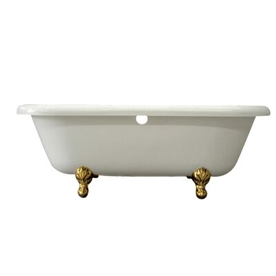 Vintage 67 x 29 Acrylic Soaking Bathtub Finish: Polished Brass