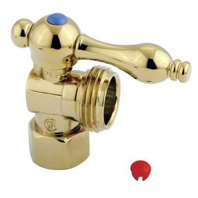 3/4 Hose Thread with Lever Handles Finish: Polished Brass