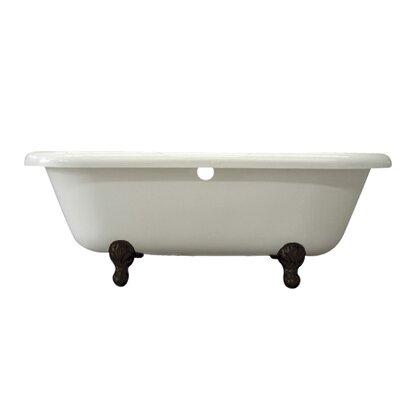Vintage 67 x 29 Acrylic Soaking Bathtub Finish: Oil Rubbed Bronze