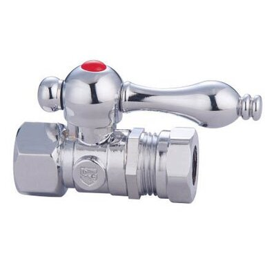 Decorative Quarter Turn Valve with Lever Handle Finish: Chrome