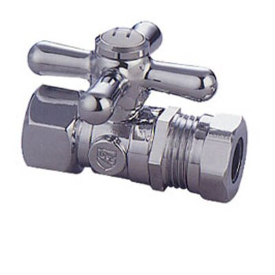 Decorative Quarter Turn Valve with Cross Handle Finish: Chrome
