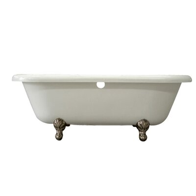 Vintage 67 x 29 Acrylic Soaking Bathtub Finish: Satin Nickel