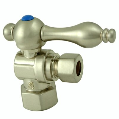 Decorative Quarter Turn Valves with Lever Handles Finish: Satin Nickel