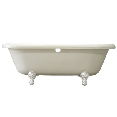 Vintage 67 x 29 Acrylic Soaking Bathtub Finish: White