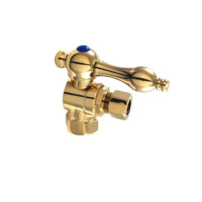 Decorative Quarter Turn Valves with Lever Handles Finish: Polished Brass
