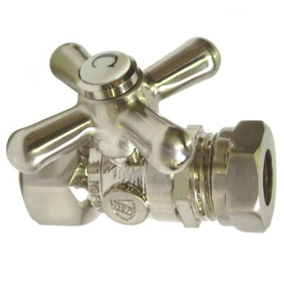 Decorative Quarter Turn Valve with Cross Handle Finish: Satin Nickel