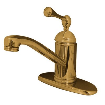 One Handle Single Hole Kitchen Faucet Finish: Polished Brass