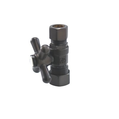 Decorative Quarter Turn Valves with Cross Handles Finish: Dark Bronze