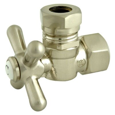 1.87 Decorative Quarter Turn Valve with Cross Handle Finish: Satin Nickel