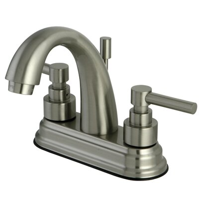 Tampa Centerset Bathroom Faucet with Double Lever Handles Finish: Satin Nickel