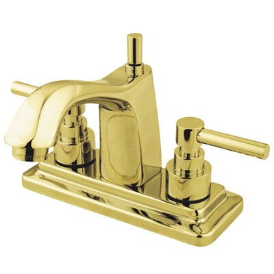 Tampa Centerset Bathroom Faucet with Double Lever Handles Finish: Polished Brass