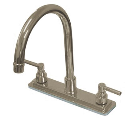 Tampa Double Handle Kitchen Faucet Finish: Polished Brass