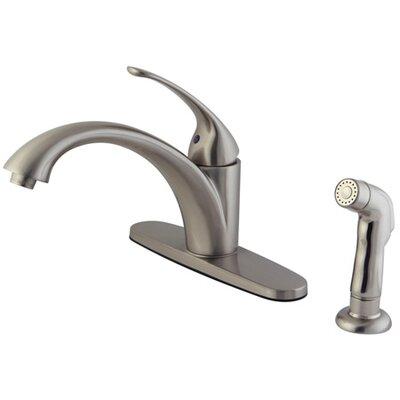 Vintage Single Handle Centerset Kitchen Faucet Finish: Satin Nickel