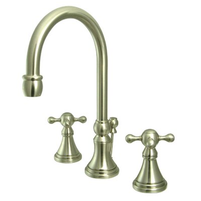 Madison Widespread Bathroom Faucet with Double Cross Handles Finish: Satin Nickel