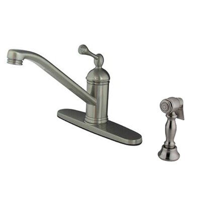 Vintage Single Handle Centerset Kitchen Faucet Finish: Satin Nickel