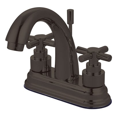Tampa Centerset Bathroom Faucet with Double Cross Handles Finish: Dark Bronze