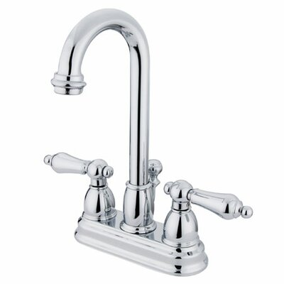 Restoration Centerset Double Handle Bathroom Faucet with Drain Assembly Finish: Polished Chrome