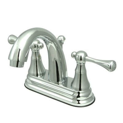 Elizabeth Centerset Double Handle Bathroom Faucet with Drain Assembly Finish: Polished Chrome