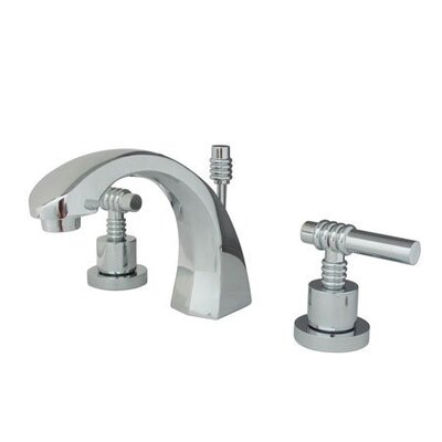 Milano Widespread Bathroom Faucet with Double Lever Handles Finish: Polished Chrome