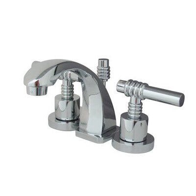 Milano Mini Widespread Bathroom Faucet with Double Lever Handles Finish: Polished Chrome