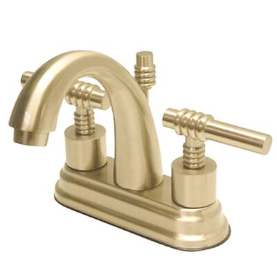 Milano Centerset Double Handle Bathroom Faucet with Drain Assembly Finish: Polished Brass