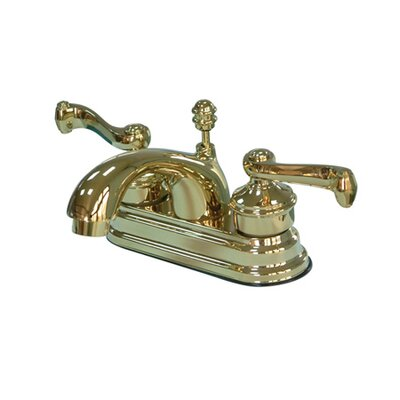 Milano Centerset Bathroom Faucet with Double Lever Handles Finish: Polished Brass