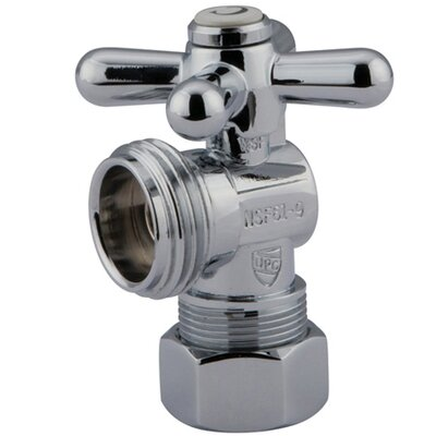 Quarter Turn Valves with Cross Handles Finish: Polished Chrome