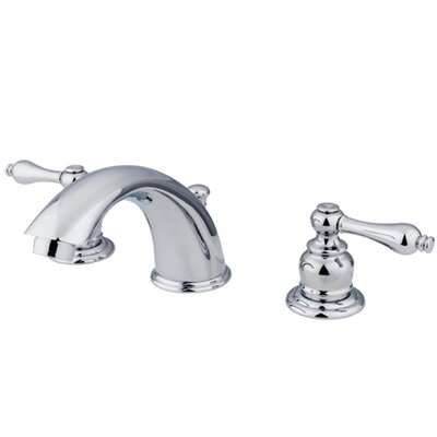 Widespread Bathroom Faucet with Double Metal Lever Handles Finish: Polished Chrome