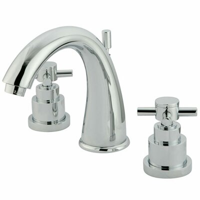 Tampa Widespread Bathroom Faucet with Double Cross Handles Finish: Polished Chrome