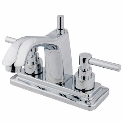 Tampa Centerset Double Handle Bathroom Faucet with Drain Assembly Finish: Polished Chrome