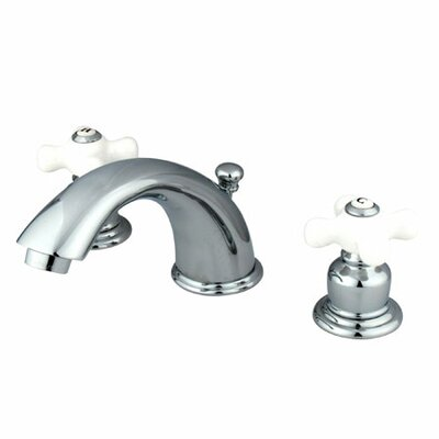 Magellan Widespread Bathroom Faucet with Double Porcelain Cross Handles Finish: Polished Chrome