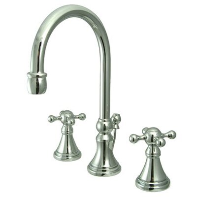 Madison Widespread Bathroom Faucet with Double Cross Handles Finish: Polished Chrome