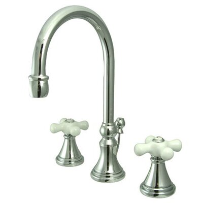 Madison Widespread Bathroom Faucet with Double Porcelain Cross Handles Finish: Polished Chrome