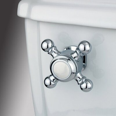 Decorative Buckingham Cross Handle Tank Lever Arm Finish: Polished Chrome