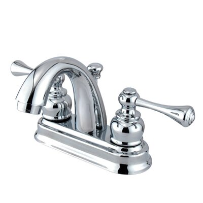 Vintage Centerset Bathroom Faucet with Double Lever Handles Finish: Polished Chrome