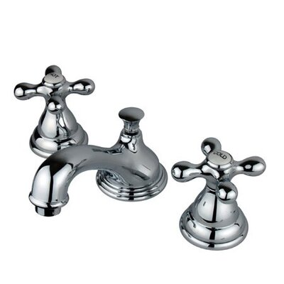 Widespread Bathroom Faucet with Double Metal Cross Handles Finish: Polished Chrome