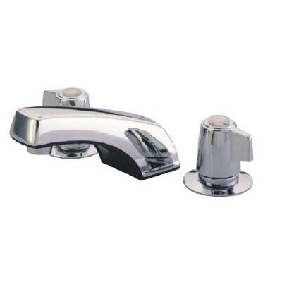 Americana Widespread Double Handle Bathroom Faucet with Drain Assembly Finish: Metal Polished Chrome