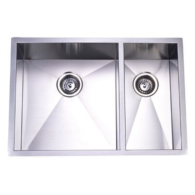 29 x 20.06 Towne Square Undermount Offset Double Bowl Kitchen Sink