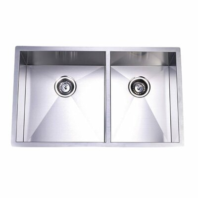 Town Square Undermount Offset Double Bowl Kitchen Sink