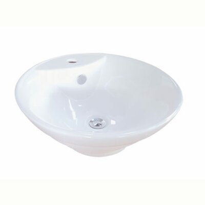 Ripple Circular Vessel Bathroom Sink with Overflow