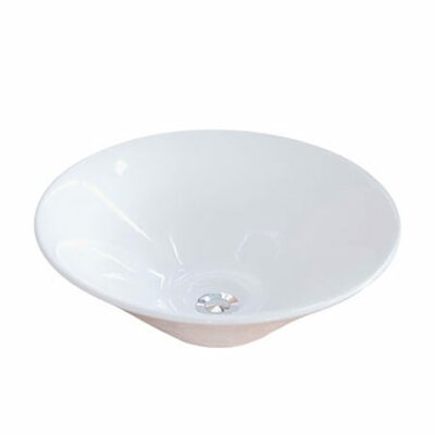 Soho Ceramic Circular Vessel Bathroom Sink