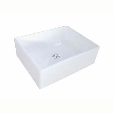 Elements Rectangular Vessel Bathroom Sink